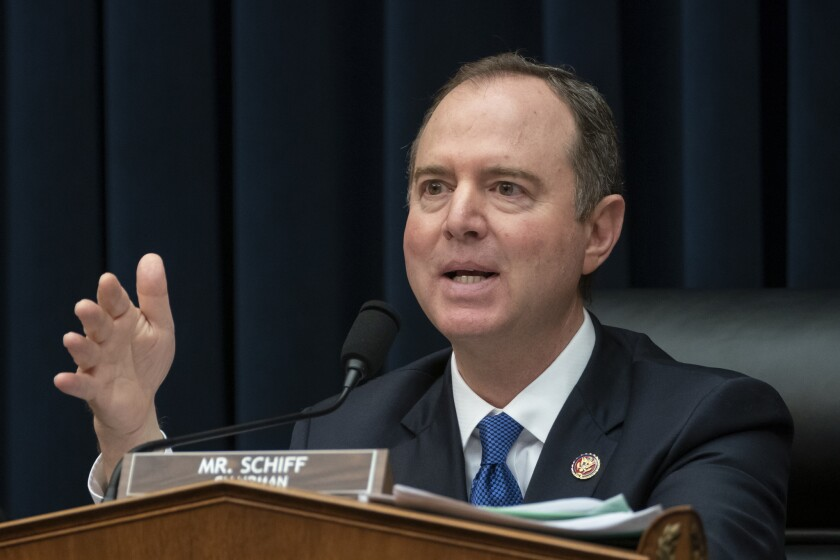 House Intelligence Committee Chairman Adam B. Schiff (D-Burbank) in March 2019.