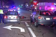 Motorcycle rider seriously injured in lane-splitting crash
