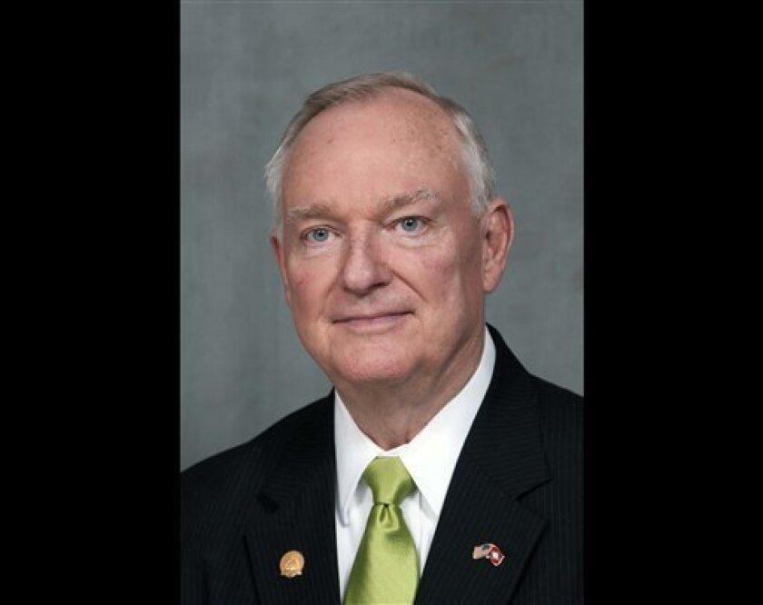 """In this Feb. 23, 2012 photo provided by the Arkansas Secretary of State's office shows Jon Hubbard. Arkansas Republicans are speaking out against """"offensive"""" statements by a GOP state representative who is running for re-election and a former GOP legislator running for a state House seat. The state GOP chairman, the Arkansas Republican House Caucus and U.S. Rep. Tim Griffin issued statements Saturday, Oct. 6, 2012 criticizing books written by Rep. Jon Hubbard of Jonesboro and former legislator Charlie Fuqua, who is running for a Batesville-area seat. (AP Photo/Arkansas Secretary of State, Lori McElroy)"""