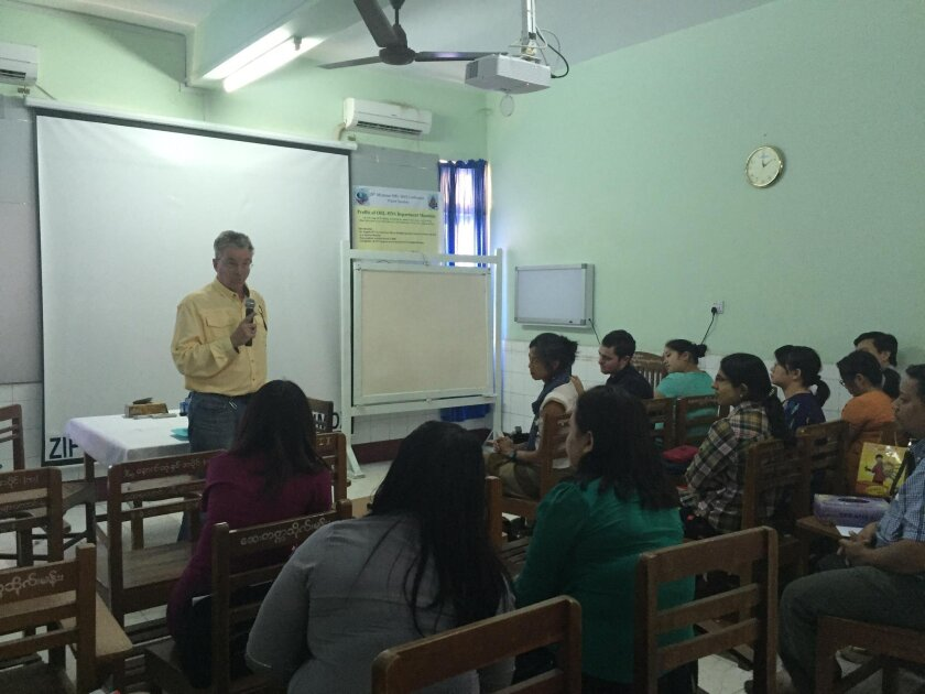 Dr. Geoffrey Smith provides updates in medicine and surgery for physicians and medical students at the ear, nose and throat hospital in Mandalay (Burma).