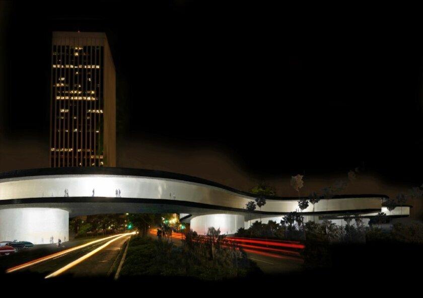 Zumthor's LACMA design by night