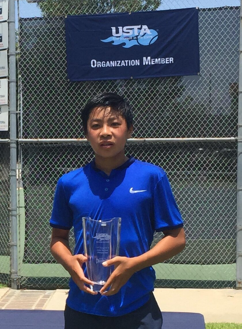 Brandon Nakashima at the Southern California Sectionals where he captured the Boys 16s Title at the age of 14.
