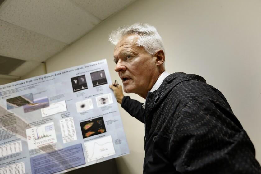 LIVERMORE, CALIFORNIA--OCT. 30, 2018--Terry Hamilton, veteran nuclear physicist at the DOE's Lawrenc