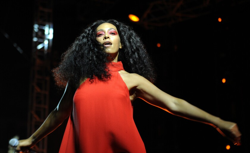 Solange performs at FYF Fest 2015 at Exposition Park on Sunday, Aug. 23, 2015.