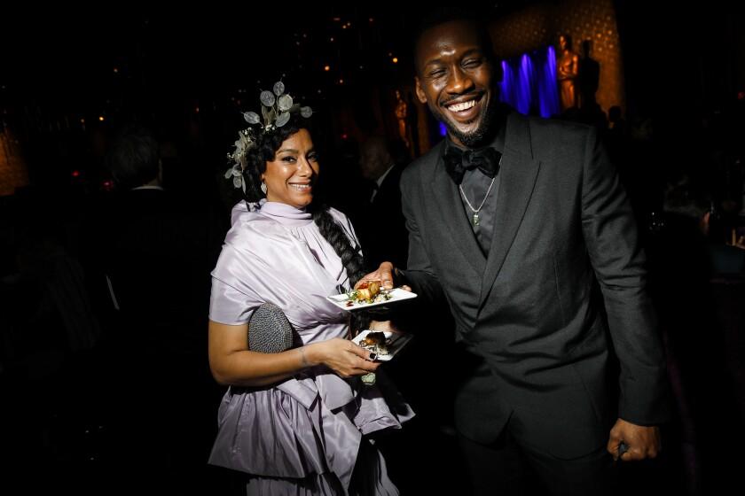 Amatus Sami-Karim and Mahershala Ali at the Academy Awards Governors Ball.