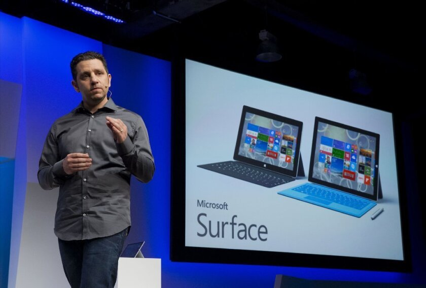 Panos Panay, Microsoft Surface corporate vice president, at the unveiling of the tablet.