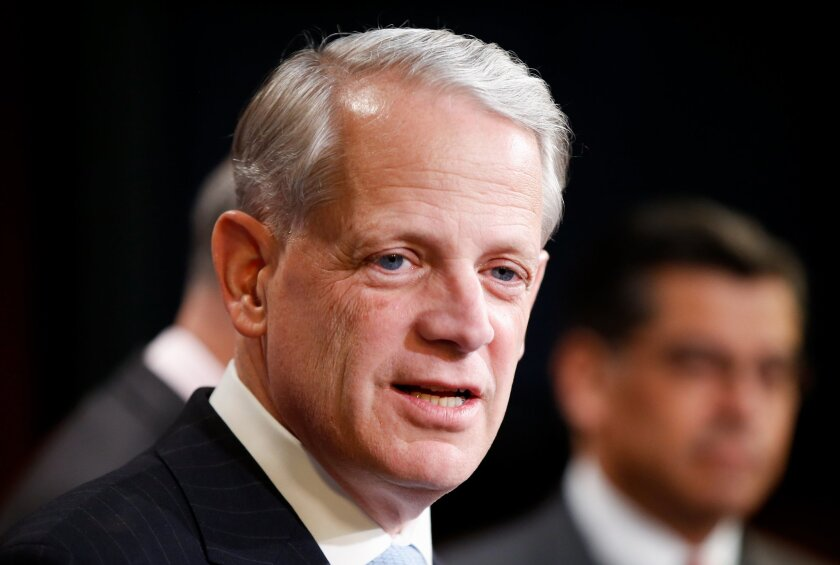 """FILE - in this March 25, 2015 file photo, Rep. Steve Israel, D-N.Y. speaks during a news conference on Capitol Hill in Washington. The party that wins the impending Supreme Court decision on President Barack Obama's health care law could be the political loser. If the Republican-backed challenge to the law's subsidies for lower-earning Americans prevails, they'd have achieved a top goal of severely damaging """"Obamacare."""" (AP Photo/Andrew Harnik, File)"""