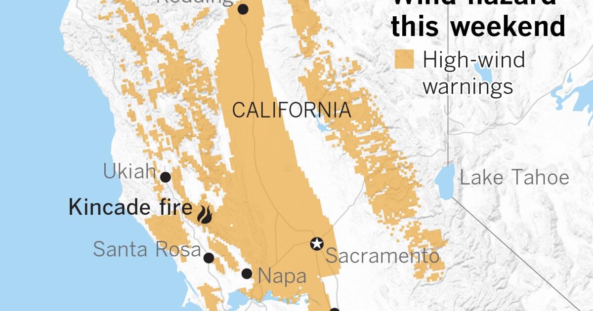 Gefährliche Winde erwartet in Northern California fire Bereichen