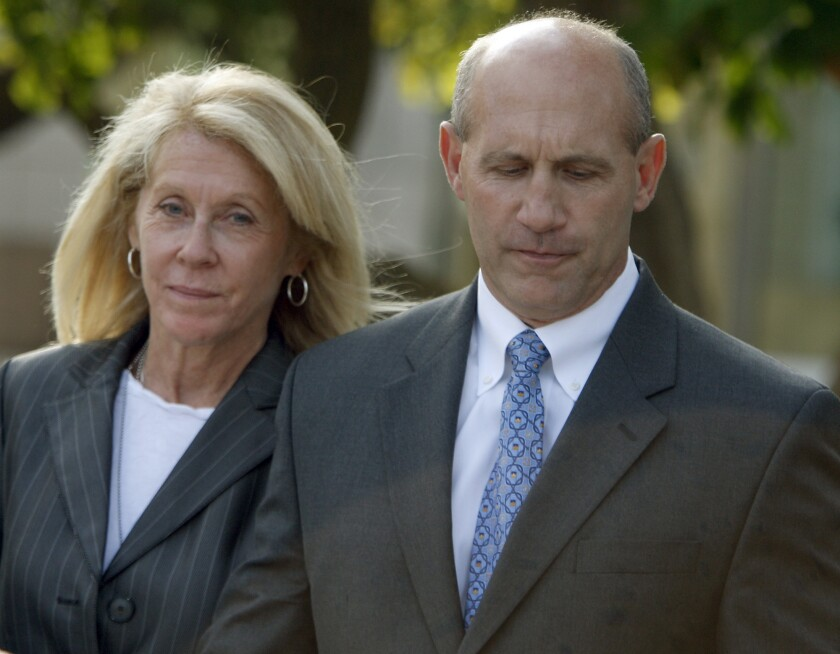 Sheriff Mike Carona and his wife.