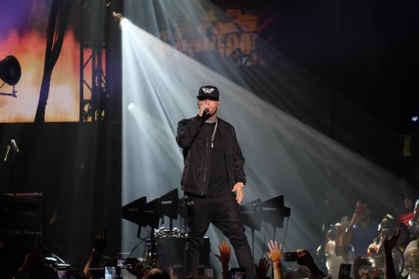 Nicky Jam se presenta durante el evento IHeart Radio Fiesta Latina. EFE/Archivo