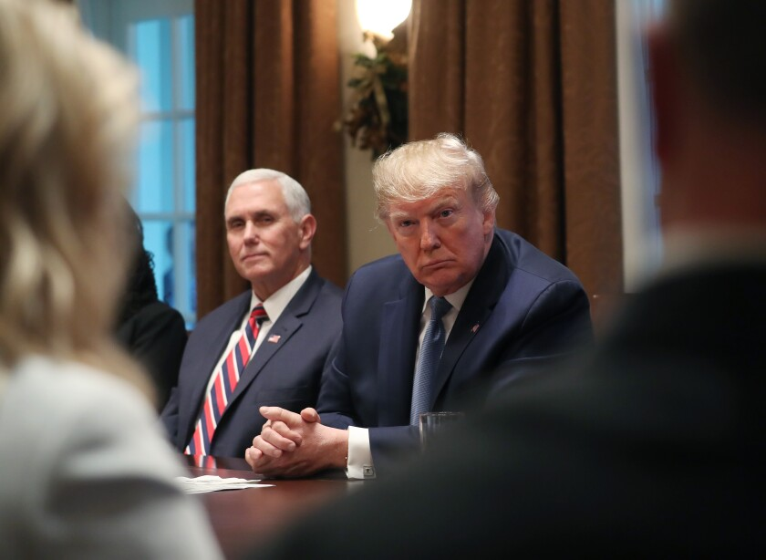 President Donald Trump Participates In Roundtable Discussion On Empowering Families With Education Choice