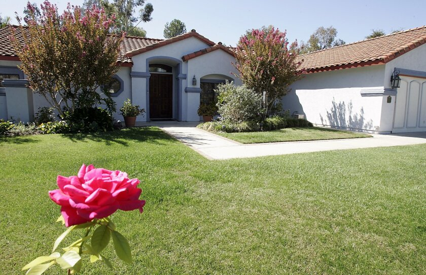 Homes in Escondido's 92029 ZIP code, such as this one on Winamar Place, have appreciated in price. (John Gastaldo / Union-Tribune)
