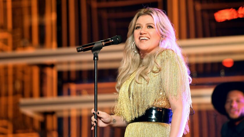 Kelly Clarkson performs during Sunday's Billboard Music Awards.