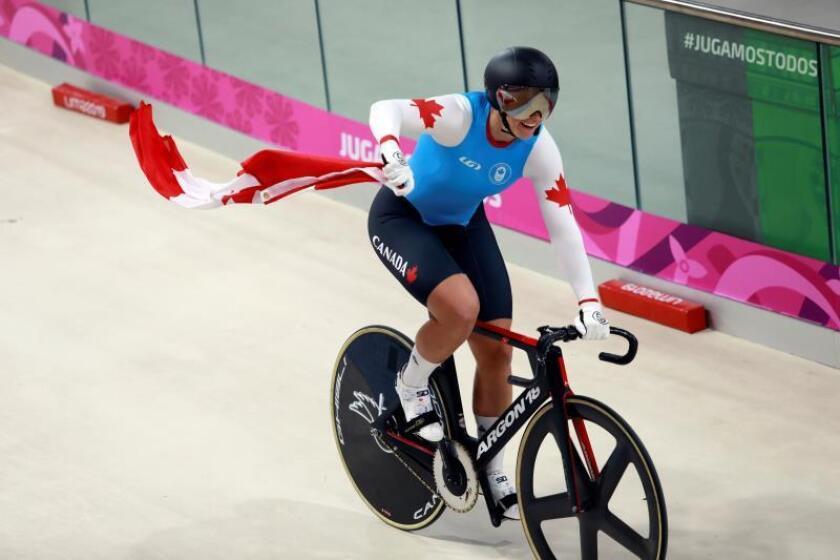 La canadiense Kelsey Mitchell bate una marca mundial en el ciclismo en pista