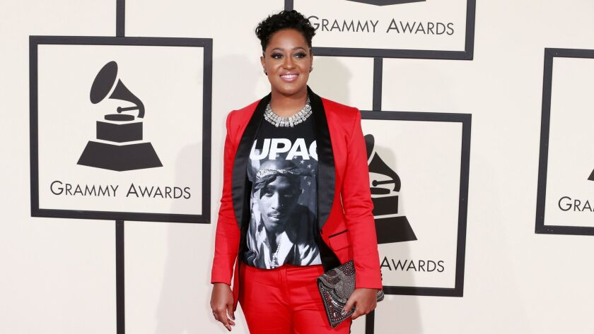 LOS ANGELES, CA - February 15, 2016 Rapsody during the arrivals at the 58th Annual GRAMMYAE Awards a