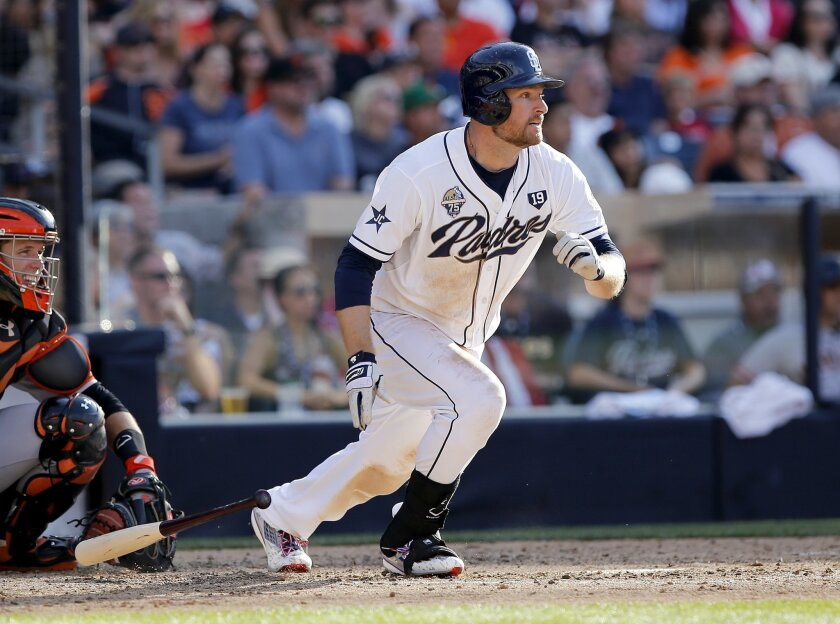 """Chase Headley has changed his grip back to its natural, yet """"unorthodox,"""" state and has two four-hit games over the past week."""