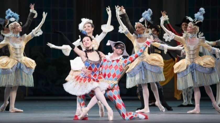 """Isabella Boylston and James Whiteside dance the leads in ABT's revival of the ballet """"Harlequinade."""""""
