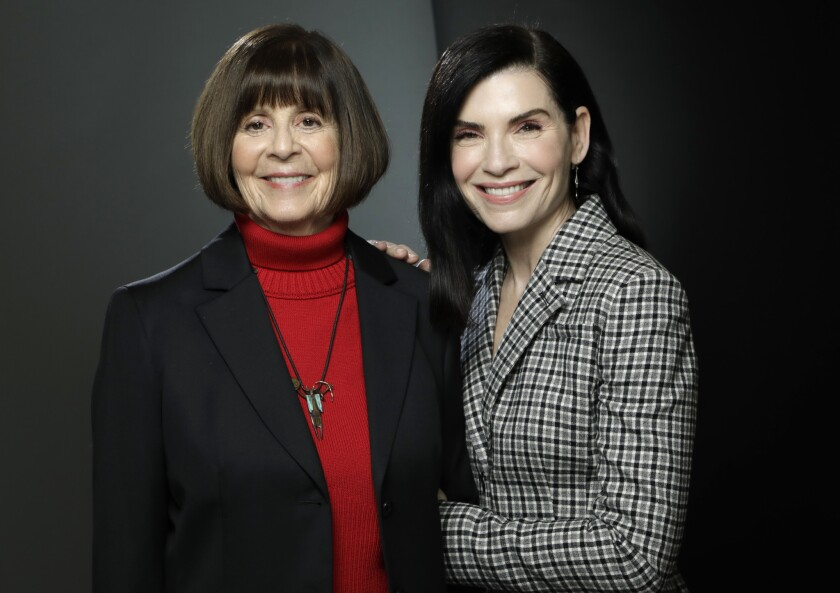 LOS ANGELES, CA -- MAY 09, 2019: Julianna Margulies, right, stars in National Geographic's limited s