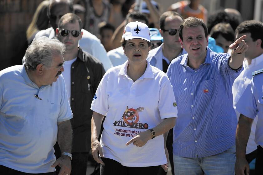 Dilma Rousseff, Eduardo Paes in Rio