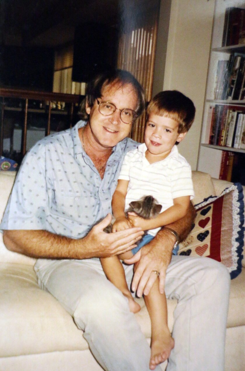 Brian Jenkins with his uncle John Witeck in 1989. Courtesy photo