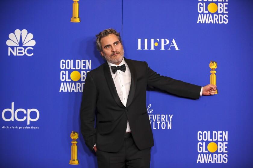 Joaquin Phoenix at the 77th Golden Globes