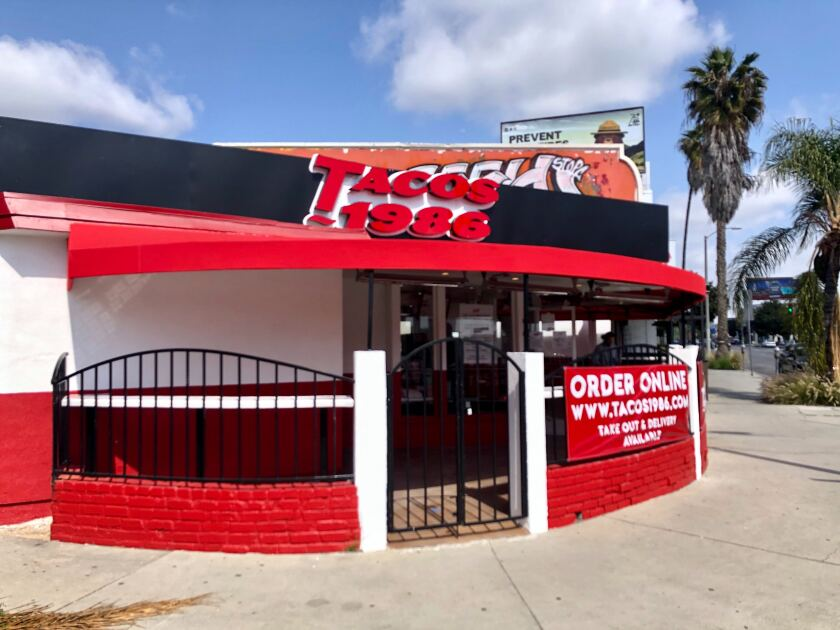 The newest location of Tacos 1986 on Beverly Boulevard opened for takeout and delivery on Wednesday.