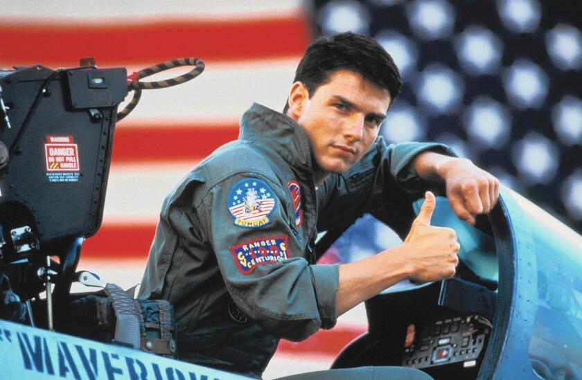 "Tom Cruise is Maverick in ""Top Gun."""