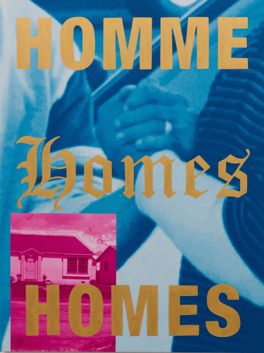 """""""Homme or Homes,"""" 2019, a painting by Gabriella Sanchez"""