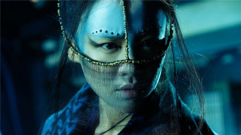 """Sichun Ma as the young assassin Shui Yue in the film """"Detective Dee: The Four Heavenly Kings."""""""