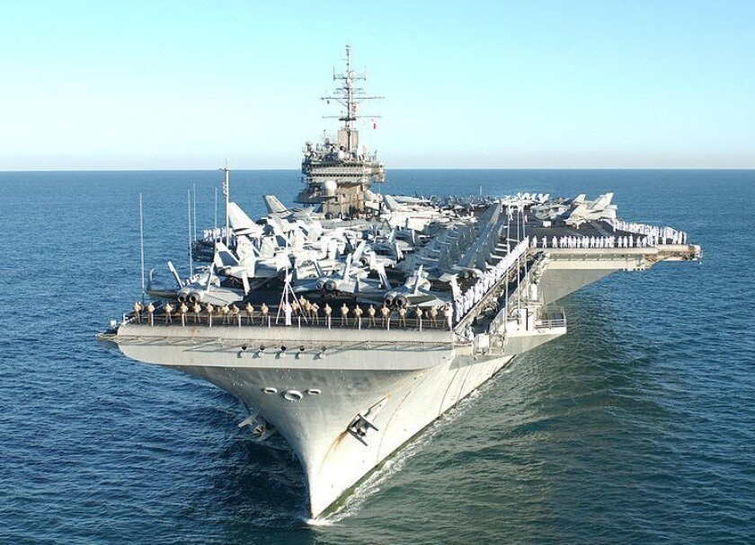 The carrier Constellation was home-ported in San Diego for 41 years.