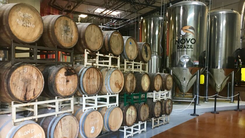 Novo Brail, a brewery in the Eastlake area of Chula Vista, is in the process of opening a tasting ro