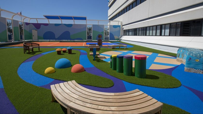 The playground at the new mental health inpatient center at Children's Hospital of Orange County in Orange.