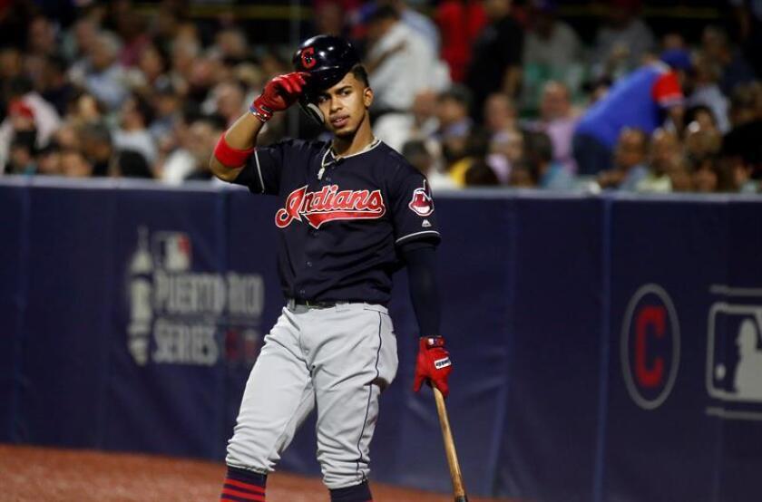 En la imagen, el beisbolista Francisco Lindor. EFE/Archivo