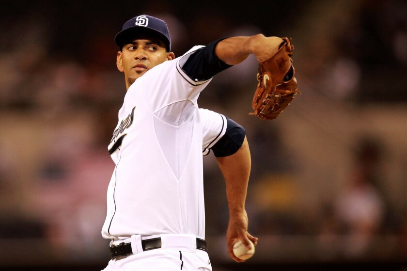 Padres starting pitcher Tyson Ross delivers in the first inning.