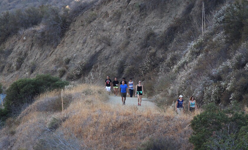 Photo Gallery: Burbank Parks and Recreation Stough Canyon trail fitness hike