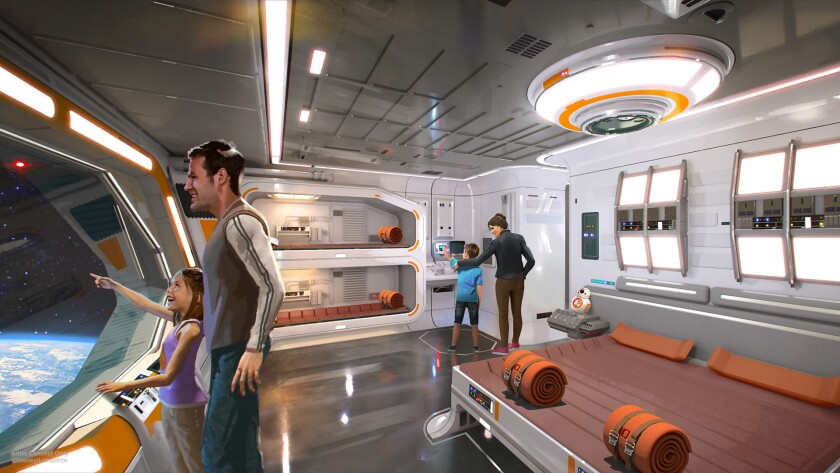 """Guests will wear costumes/uniforms during their stay at the """"Star Wars""""-themed resort, as imagined i"""