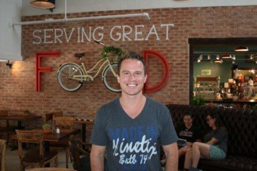 Owner Johan Engman has opened up Café Cantata in Flower Hill Promenade. Photo by Karen Billing
