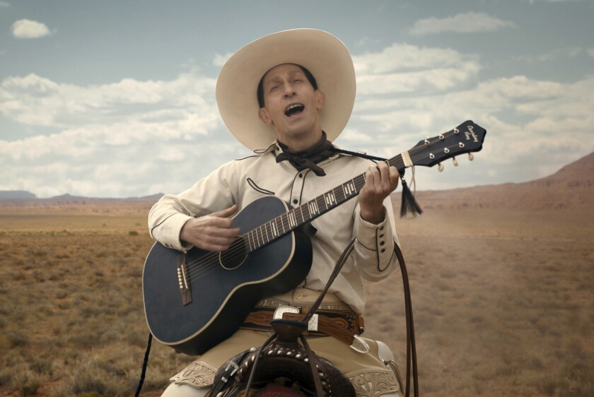 """This image released by Netflix shows Tim Blake Nelson as Buster Scruggs in a scene from """"The Ballad"""