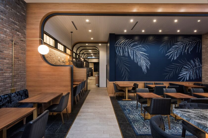 The interior of Black Rail Kitchen + Bar, which opened in late August in Carlsbad.