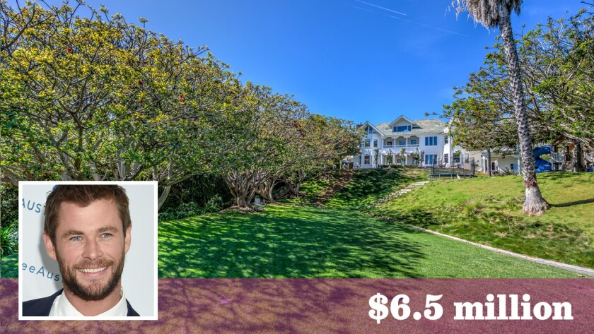 """""""Thor"""" star Chris Hemsworth and his wife, Elsa Pataky, have put their Victorian estate in Malibu up for sale at $6.5 million."""