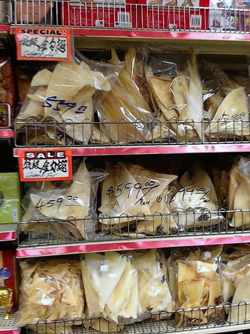With shark fin ban, a slice of Asian culture ends in California