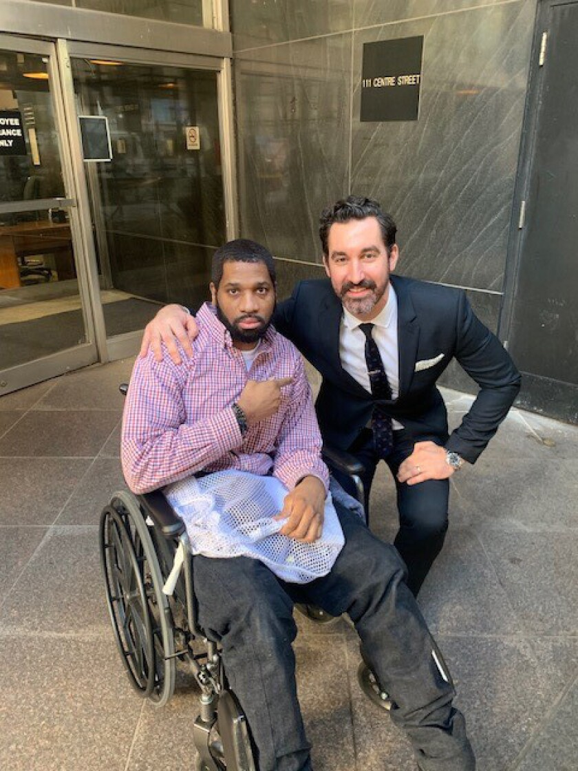 A Manhattan jury acquitted Rasaun Bullock of drug charges after he spent 3½ yearsr in jail fighting jail officials over a wheelchair.