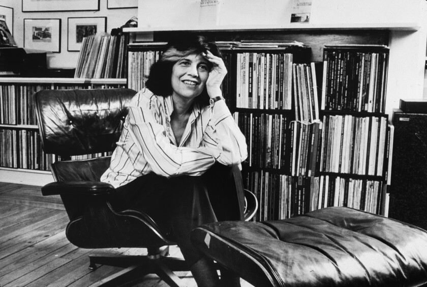 """Susan Sontag, subject of a new biography by Benjamin Moser, """"Sontag: Her Life's Work."""""""