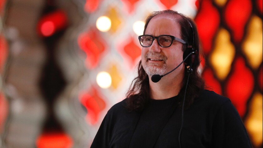 Academy Awards telecast director Glenn Weiss photographed during rehearsals for last year's show in the Dolby Theatre in Hollywood.