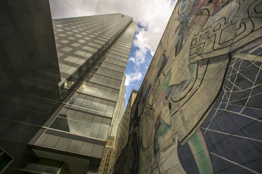 Co-working firm WeWork moved into 91,000 square feet last quarter at the Gas Company Tower.