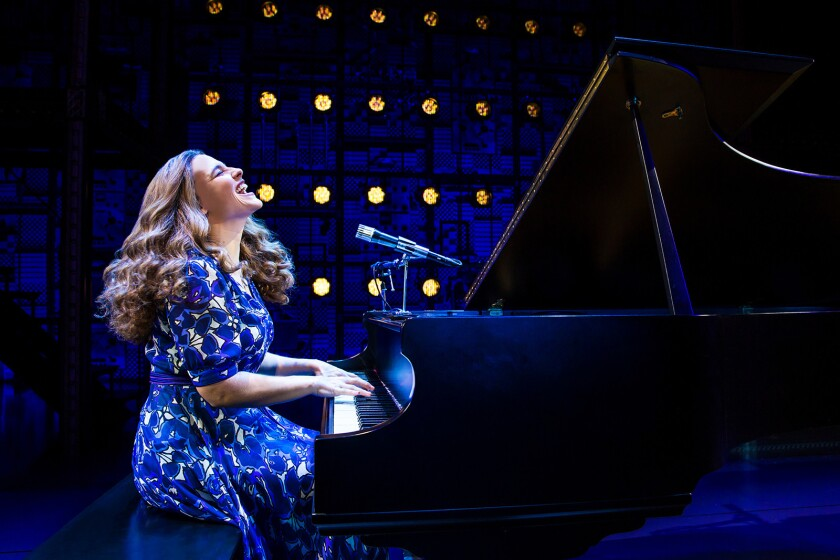 "Production photo from BEAUTIFUL - The Carole King Musical. Pictured: Sarah Bockel (""Carole King"") CR"