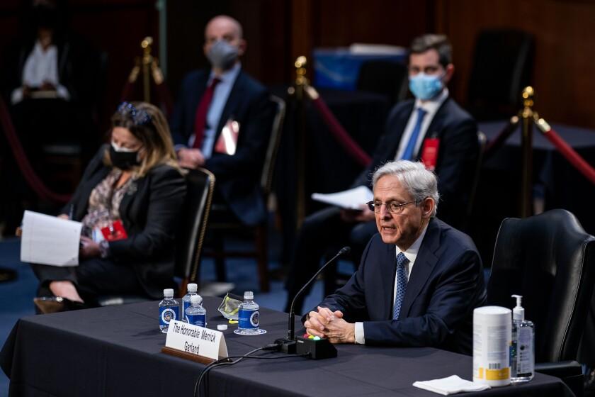 Merrick Garland at Capitol Hill hearing
