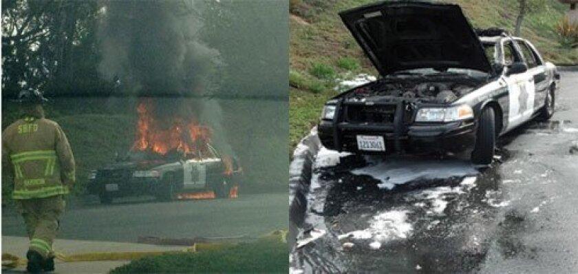 Left photo/Rory Bennett. Right photo/ Officer Rick Petoscia.