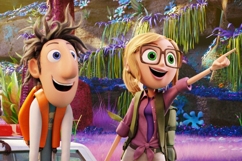 """Cloudy with a Chance of Meatballs 2"" will likely be the No. 1 film at the box office this weekend, beating ""Don Jon,"" ""Rush"" and ""Baggage Claim"""