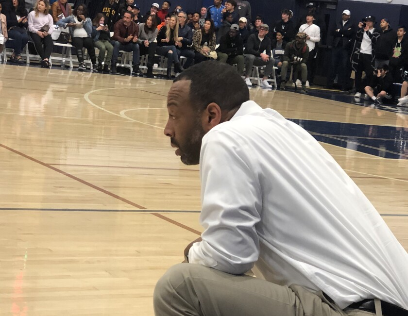 Sierra Canyon boys' basketball coach Andre Chevalier guided the Trailblazers to the No. 1 seed for the Southern Section Open Division playoffs.
